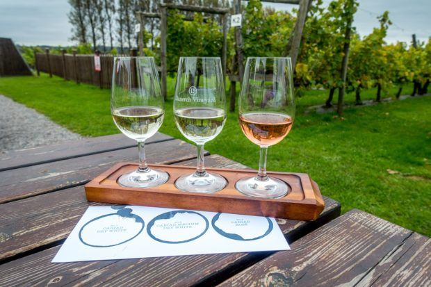 Llanerch Vineyard in south Wales is a great place to sample Welsh wine