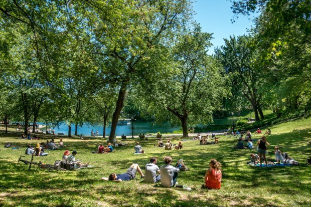 La Fontaine Park is one of the top Montreal attractions throughout the year