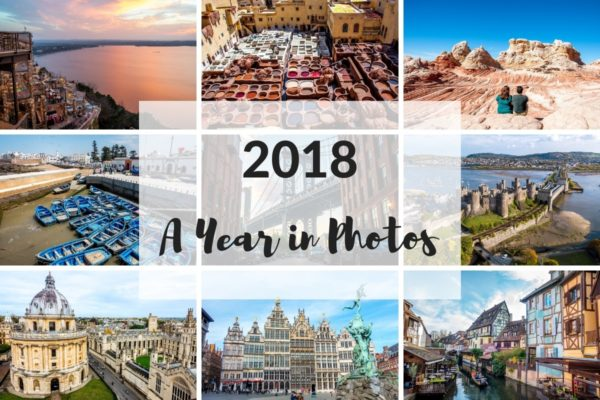 A photo collage of favorite photos from travels in 2018