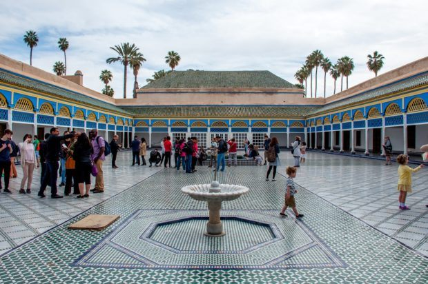 The gorgeous Bahia Palace is one of the highlights of Marrakech travel