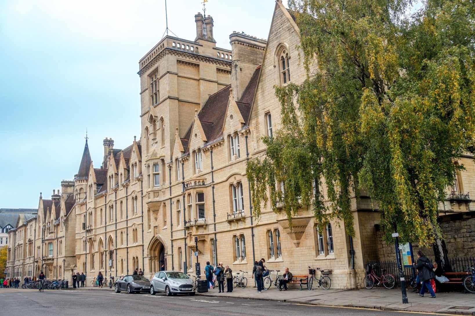 Balliol College in the Oxford town centre