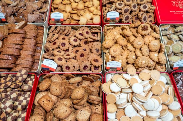 Bredele are traditional Christmas cookies in Alsace, France