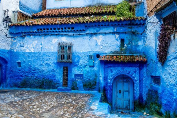 Bright blue Chefchaouen is one of the best cities in Morocco for relaxing and enjoying your surroundings