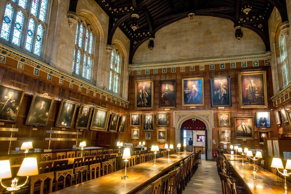 Great Hall at Christ Church in Oxford, England