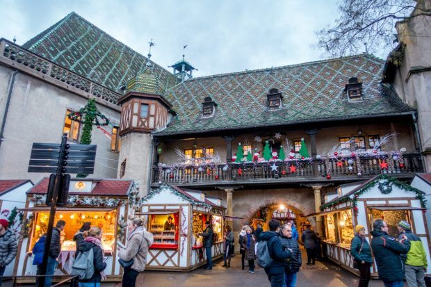 Wondering what to do in Colmar, France at Christmas? Don't miss the market at the Old Customs House