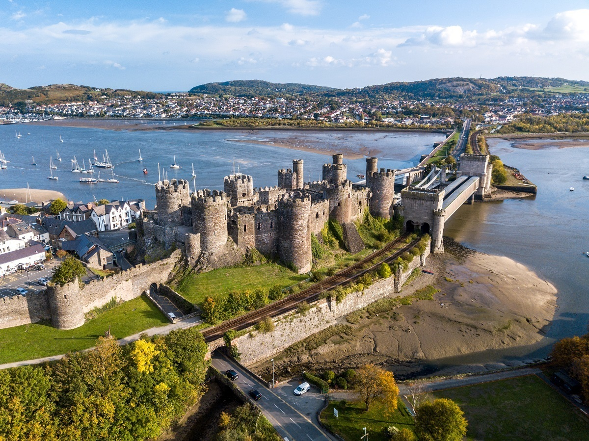Conwy Castle in northern Wales is a UNESCO World Heritage Site