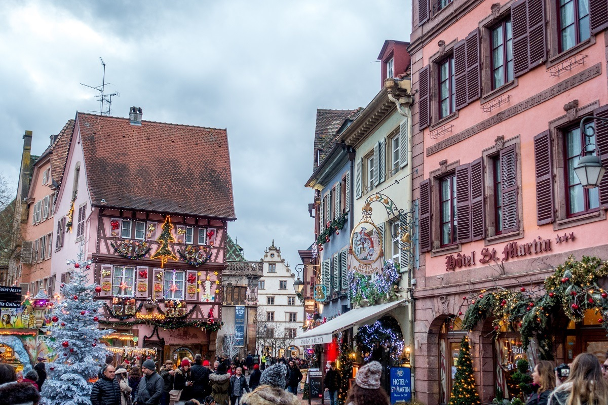 Visiting the Colmar Christmas market in France is a festival of colors, lights, and the heavenly smells of the season