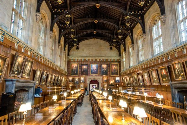 The Great Hall at Christ Church was the inspiration for the dining hall at Hogwarts. It is one of the top Oxford tourist attractions.