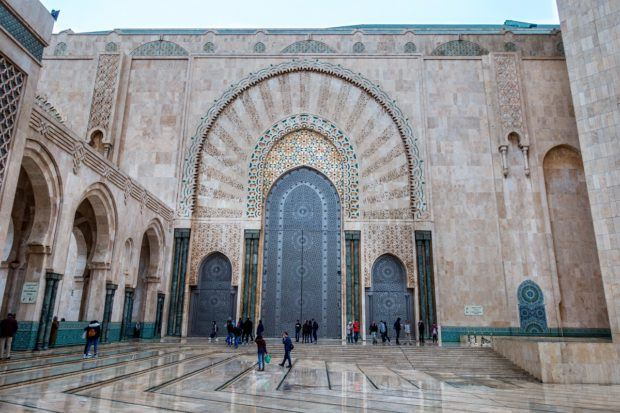 Hassan II Mosque in Casablanca is one of the most recognizable Morocco landmarks
