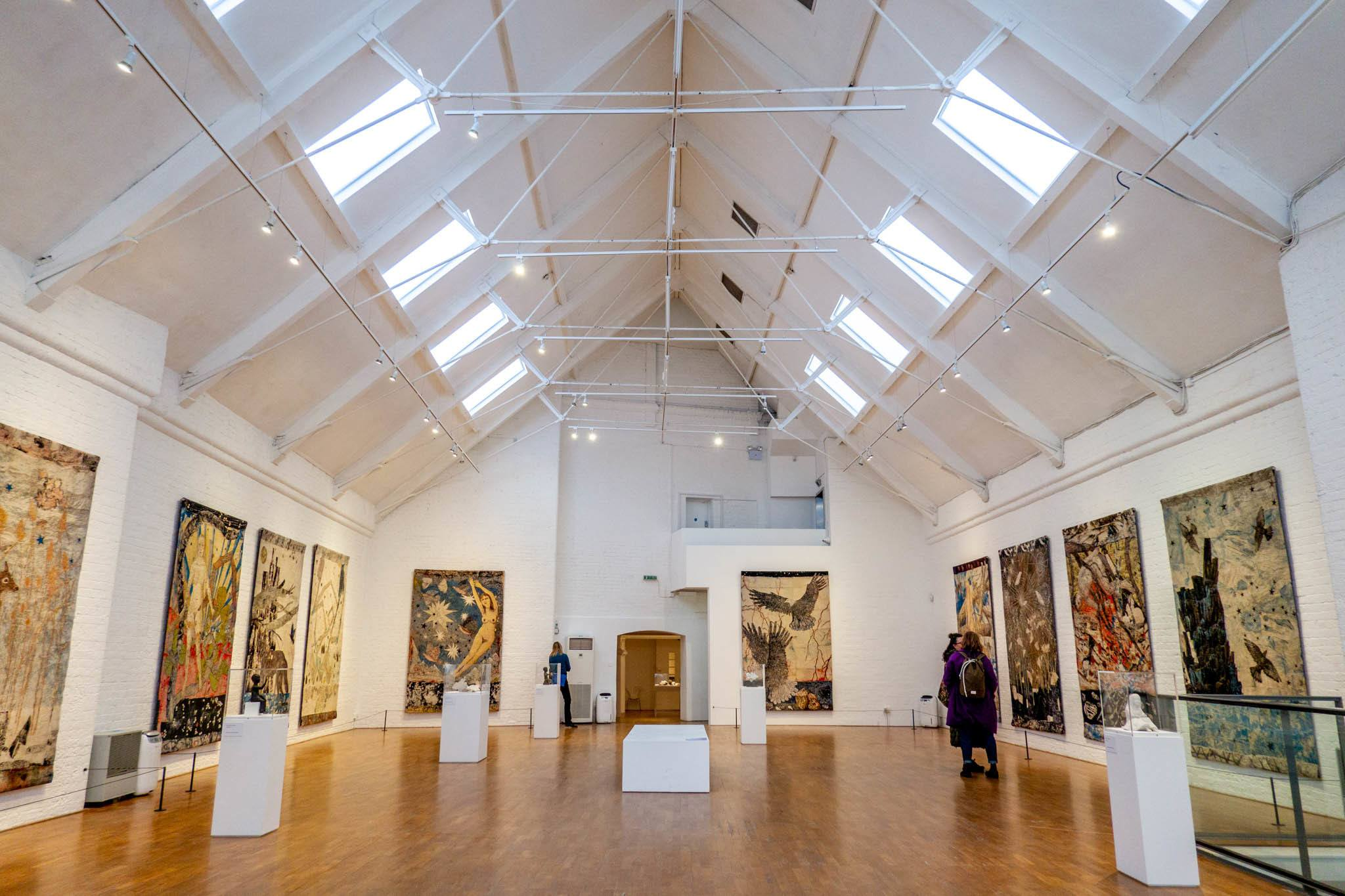 Large art gallery room with paintings on the walls at Modern Art Oxford