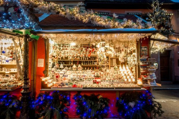 Colmar in Christmas is full of beautiful lights and decorations