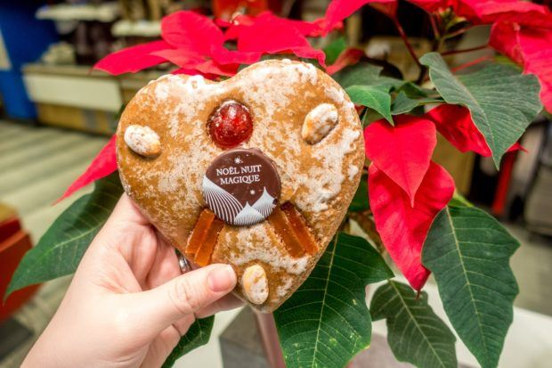Pain d'epices, similar to gingerbread, is a traditional Alsatian Christmas food