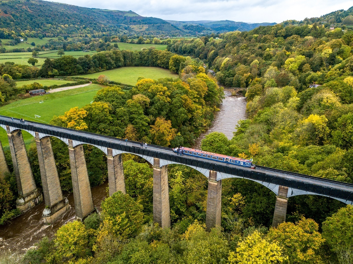 Pontcysyllte Aqueduct in Wales is a UNESCO Site