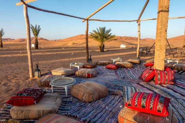 Staying at a desert camp is one of the best things to do in Morocco