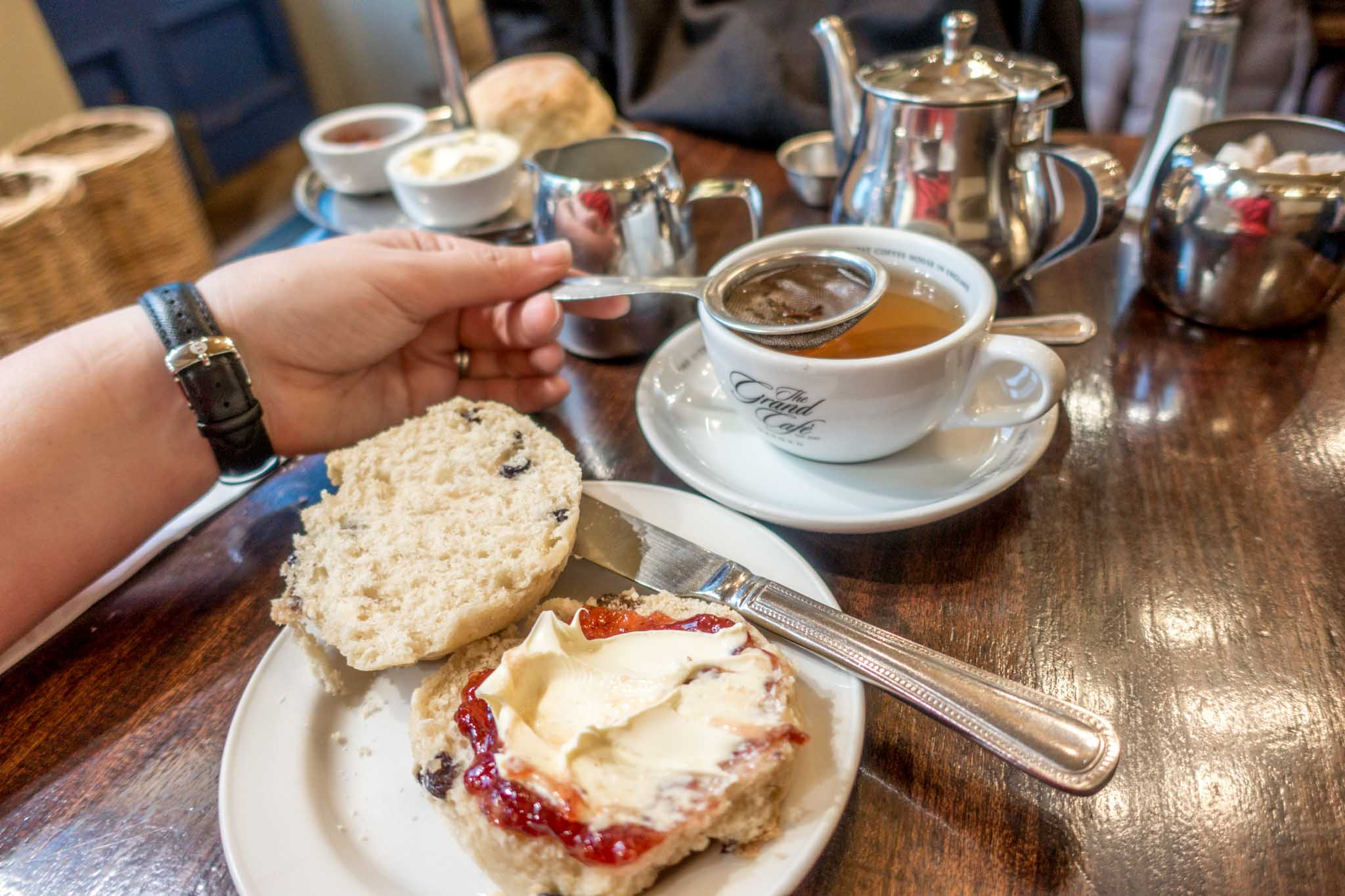 Don't miss having afternoon tea at the Grand Cafe during a weekend in Oxford UK