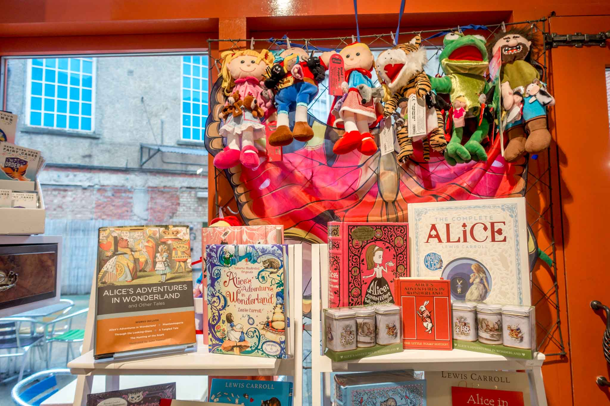Alice in Wonderland items at The Story Museum cafe, which is a great place to visit on an Oxford day trip