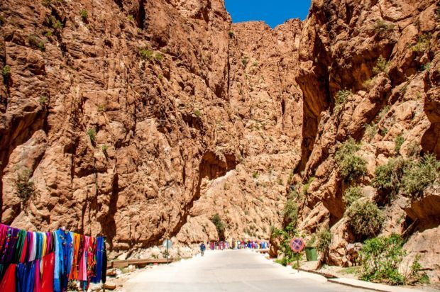 Todra Gorge in the High Atlas is one of the best places to go in Morocco for hiking and rock climbing