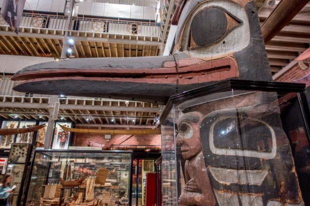Don't miss the unique artifacts at the Pitt Rivers Museum like this totem when you visit Oxford England