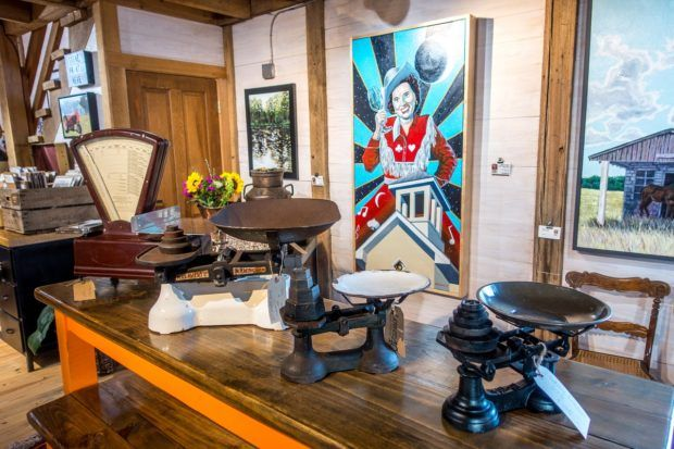 Humble Donkey Studio in Round Top, Texas, sells art and antiques