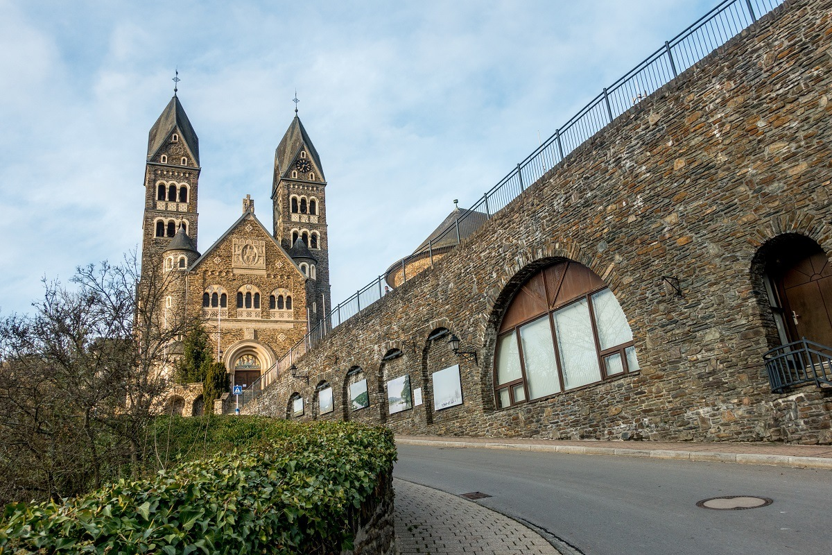 The parish church in Clervaux is one of the interesting places to see when you visit Luxembourg