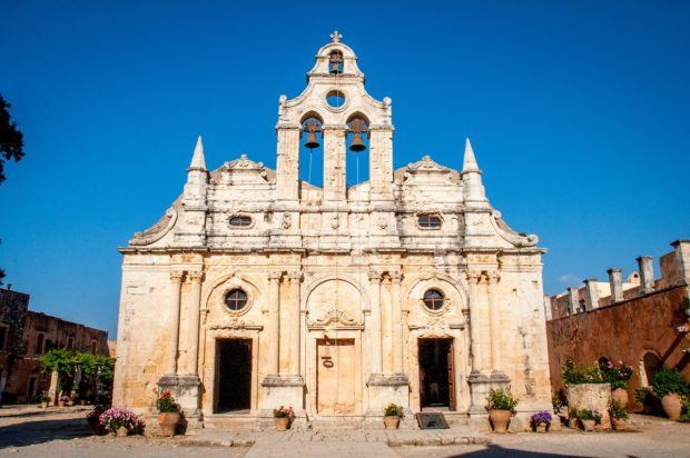Visiting the beautiful and historic Arkadi Monastery is one of the best things to do in Crete