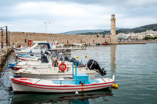 Boats in the Venetian harbor in Rethymno, Crete