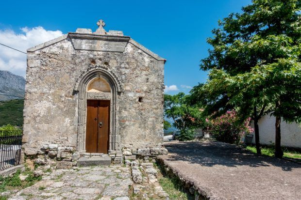 14th-century chapel in the village of Thronos, Crete