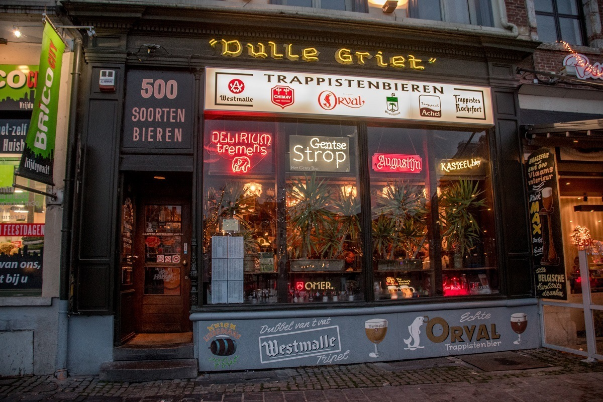 Participating in the unique beer-for-show ritual at Dulle Griet is one of the top things to do in Ghent for beer-lovers