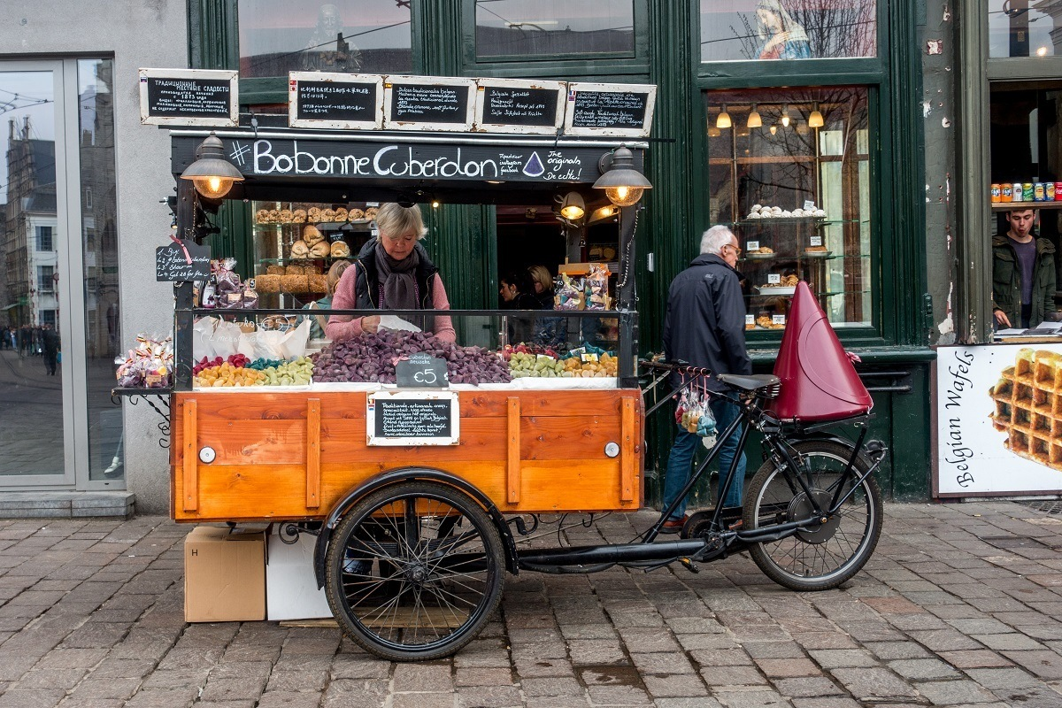 Buy a cuberdon at the Groentenmarkt -- it's one of the fun things to do Ghent