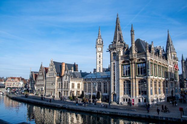 Hanging out along the quays is what to do in Ghent on a sunny day