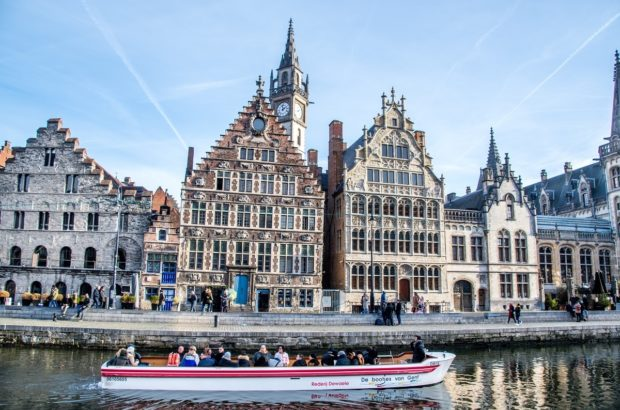 Walking along the quays and cruising the river are some of the top things to do in Ghent Belgium