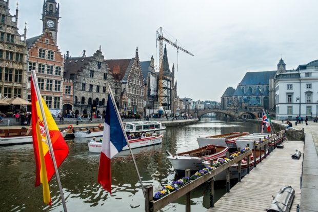 The quays along the river are what to see in Gent in a day