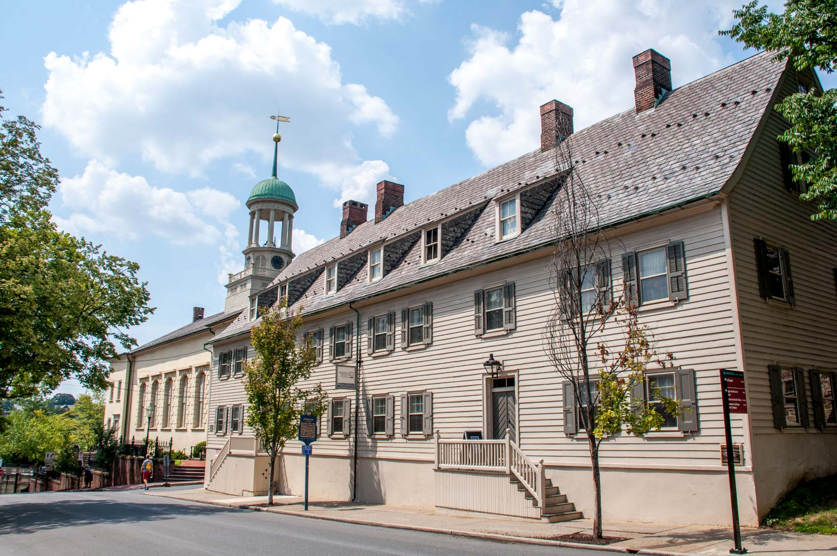 One of the Moravian buildings in Bethlehem PA