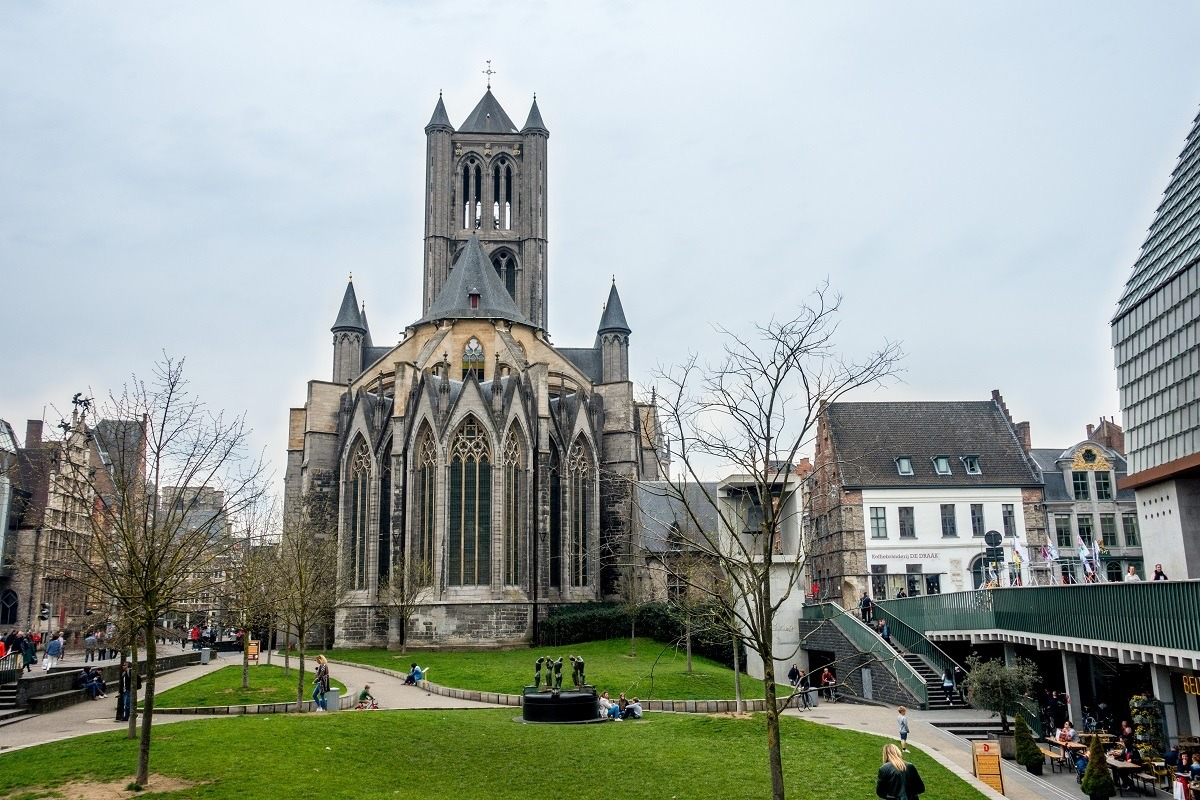 The beautiful exterior of Saint Nicholas Church is one of the top things to see in Ghent