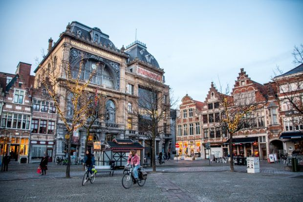 Visiting Vrijdagmarkt is one of the fun things to do in Ghent Belgium