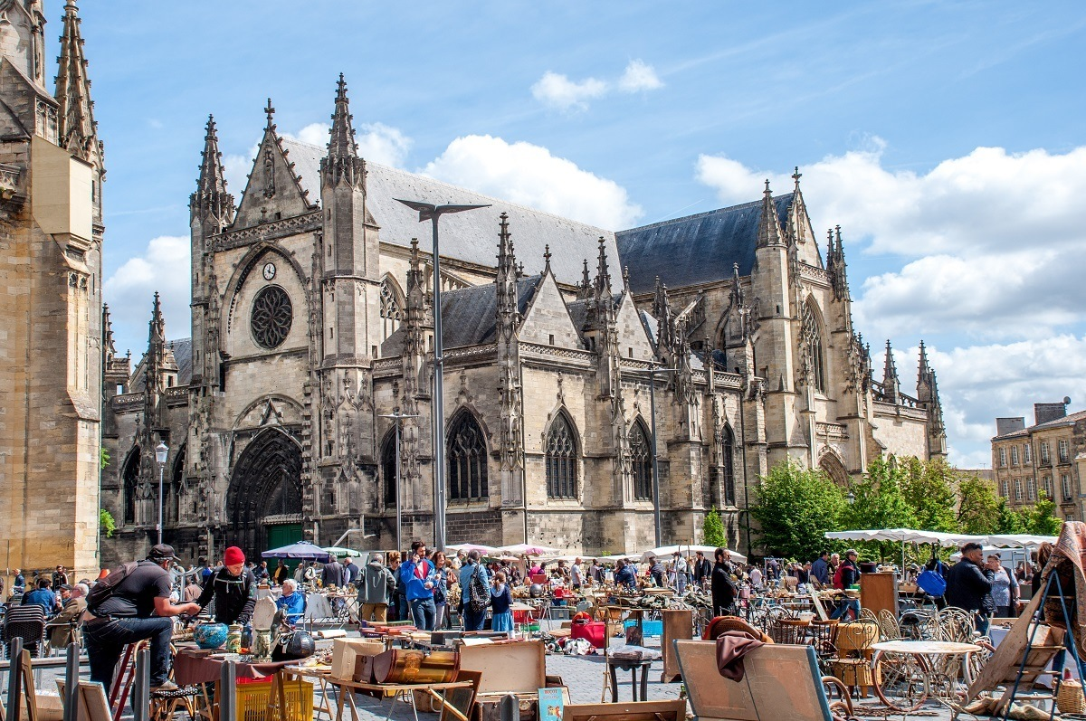 Browsing the Marche Royal at Basilica Saint Michel is one of the Bordeaux top 10 free things to do