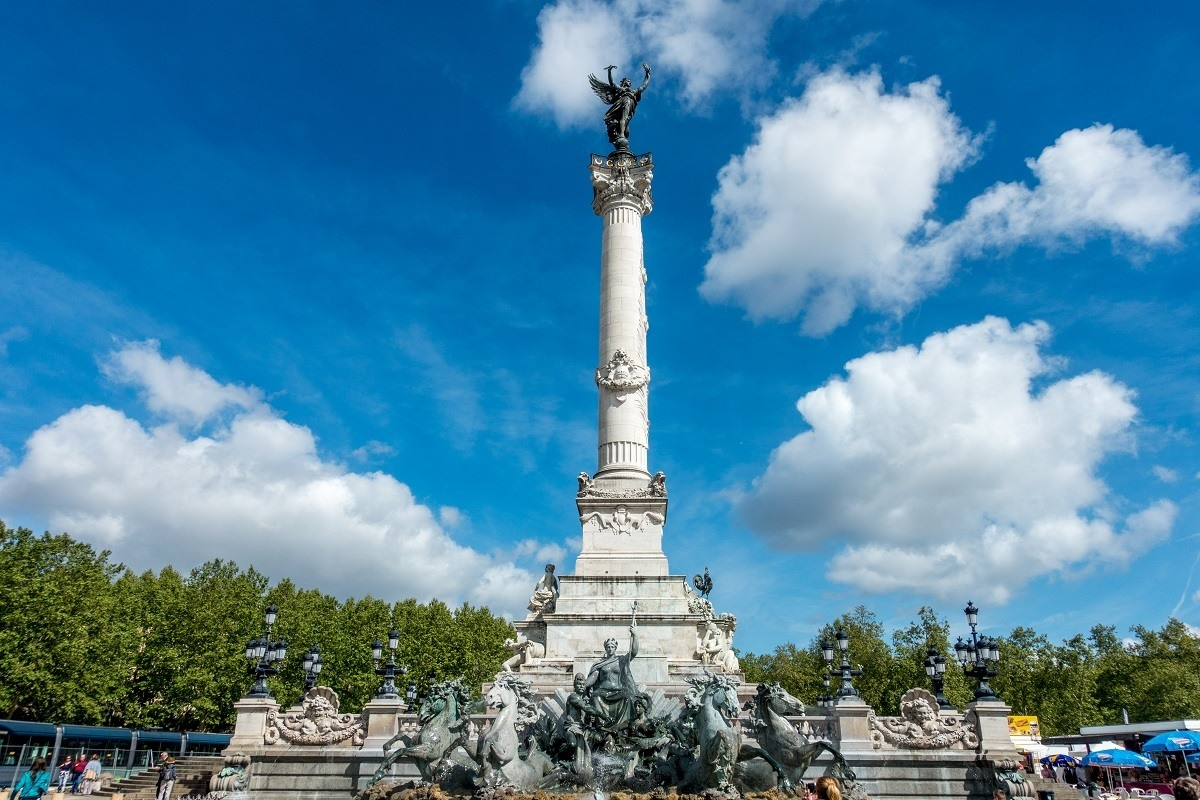The Girondins Monument is one of the top Bordeaux landmarks