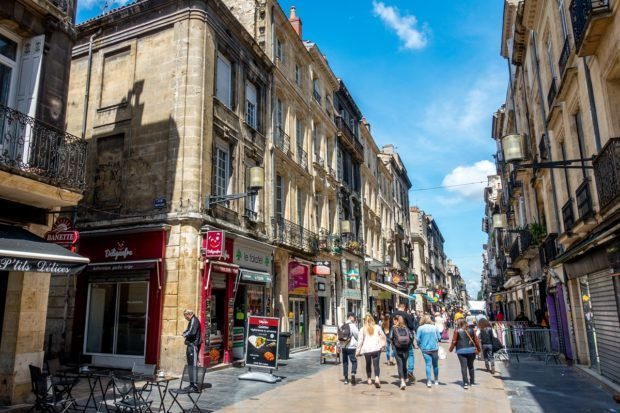 Rue Sainte-Catherine is one of the best places in Bordeaux for shopping
