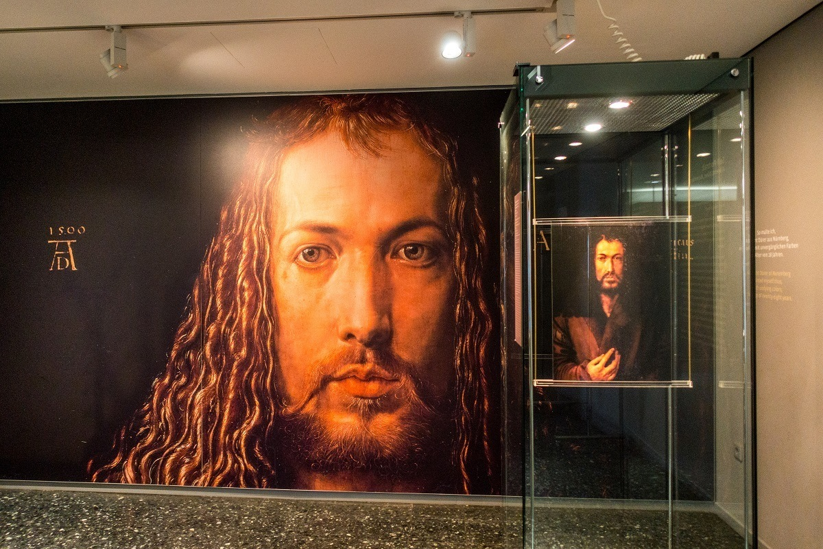 Self-portrait of Albrecht Durer in the Albrecht Durer House. A visit here is one of the top things to do in Nuremberg.