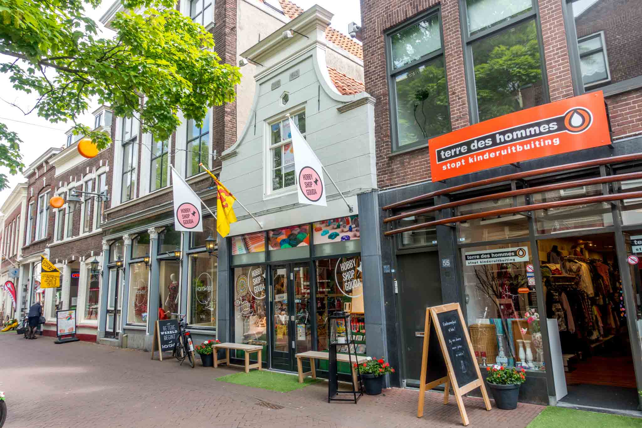 If you're wondering what to do in Gouda, take some time to shop on Lange Groendaal