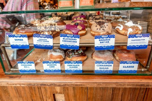 Some of the unusual and excellent donuts on display at District Donuts. A stop here should be part of your New Orleans 3 day itinerary.