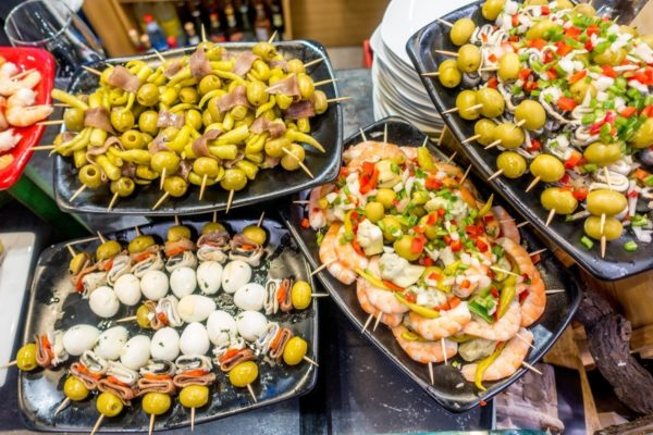 Anchovies and fresh seafood are among the best pintxos in San Sebastian Spain