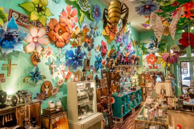 The colorful and whimsical interior of Miette, a cute store on Magazine Street in New Orleans