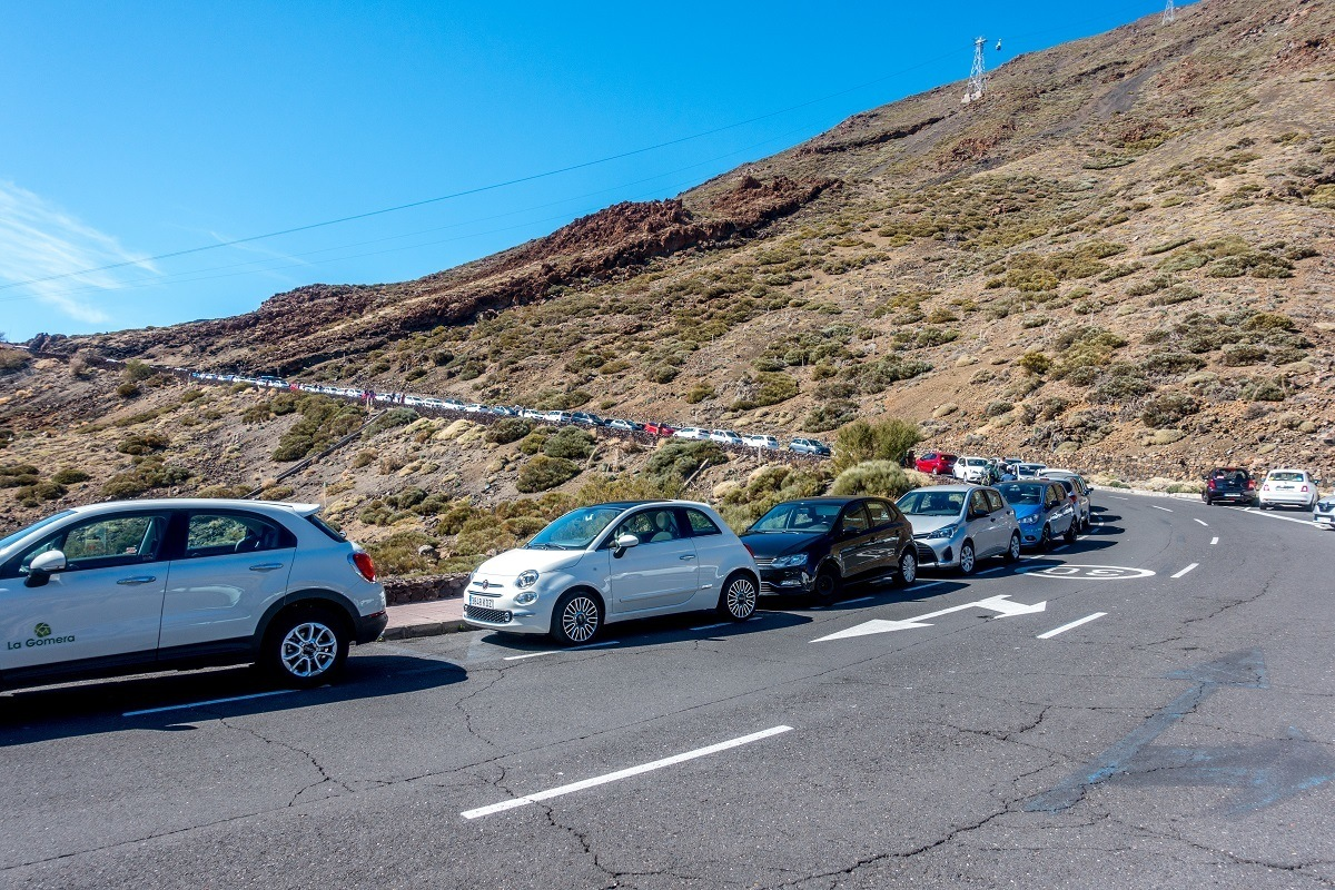 The one challenge do doing your own Mount Teide tour is the limited amount of parking at the Tenerife cable car lower station.