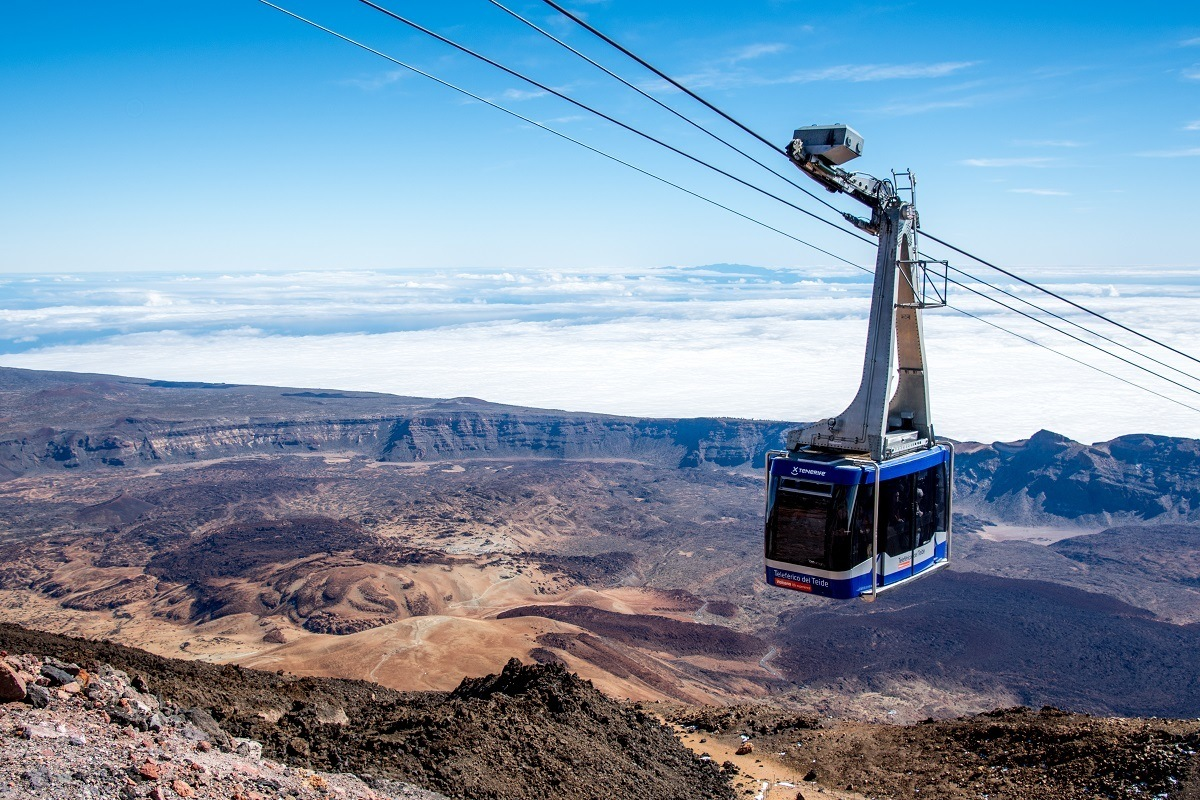The Mount Teide Cable Car (Teleférico del Teide) takes visitors up the highest mountain in Spain to almost the summit.  This is one of the best Tenerife things to do.