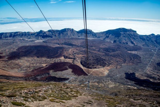 Mount Teide Cable Car Photos:  The view of the caldera and the entire Mount Teide National Park from the cable car.