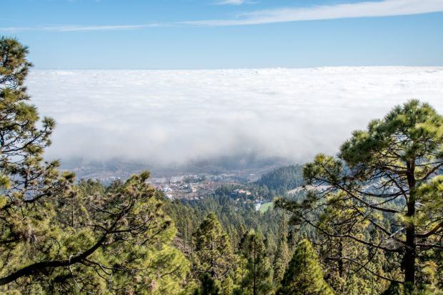 Vilaflor Tenerife as seen from Mt Teide.