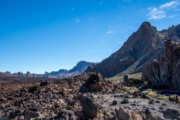 Mt Teide, the mountain in Tenerife, offers exceptional hikes.  For visitors who do not get a summit permit, they can still enjoy the volcano Teide.