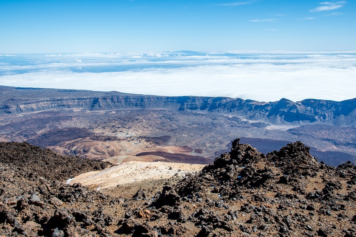 The highlight of Tenerife Mount Teide trips are the incredible views from the summit and upper cable car station.