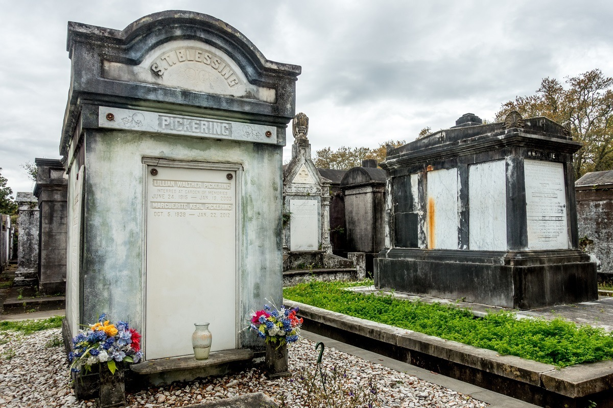 Tombs at Lafayette Cemetery No. 1 in New Orleans